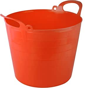 Orange 26L Flexi Tub Trug Bucket for Builders, Storage, Gardens, Horses - Comes With TCH Anti-Bacterial Pen!