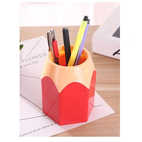 Creative Pen Vase Pencil Pot Pen Holder Container Stationery Plastic Desk Organizer Tidy Container School Office…