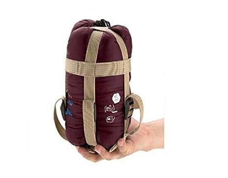 ZeleSouris Portable Impermeable Ultraligero Envelope Saco de Dormir Bolsa de Dormir Sleeping Bag (Rojo de Vino) Genérico