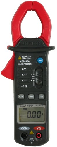 (Mastech MS2002A Auto Ranging Digital Clamp on Meter 400A AC with Back Light and Data)