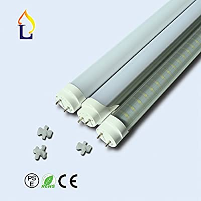 (10 Pack) Emergency T8 LED Tube Light With Battery SMD2835 96leds 4ft 18W, G13 Works without a Ballast! Fluorescent Replacement Light Lamp