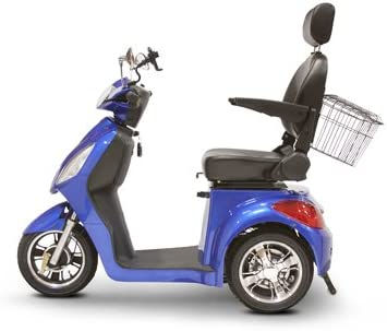 EWheels EW-36 3-Wheel Mobility Scooter, Royal Blue – BMC-EWH EW-36B