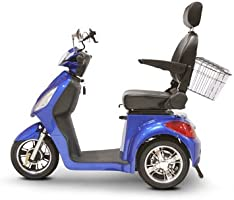 Miller Supply, Inc. EWheels (EW-36) 3-Wheel Mobility Scooter, Royal Blue - BMC-EWH EW-36B