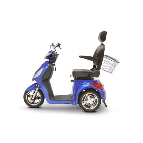 EWheels (EW-36) 3-Wheel Mobility Scooter, Royal Blue - BMC-EWH EW-36B
