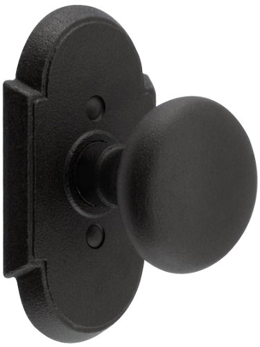 - Wrought Steel Arched Rosettes with Round Knobs Privacy Matte Black. Antique Hardware Knobs.