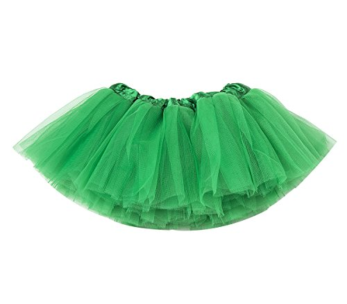 belababy Green Skirt 0-24 Months, Baby Girl 5 Layers Tulle Tutu for Dress up
