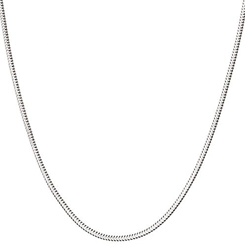 (925 Sterling Silver Italian 1.2 mm Magic Snake Chain Crafted Necklace Thin Lightweight Strong - Lobster Claw Clasp (20.00, sterling-silver))