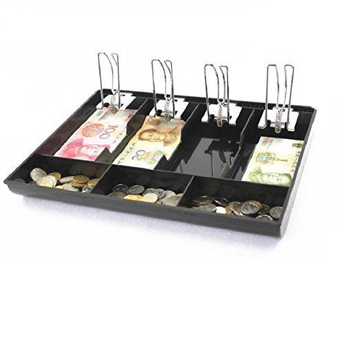 GUANHE Casella del registratore di cassa Nuovo negozio Classificare Moneta per cassiere Cassetto cassetto portavalori (4 scomparti)