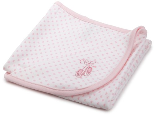 Little Me Baby Girls' Prima Ballerina Tag Along Blanket, White/Pink, One Size