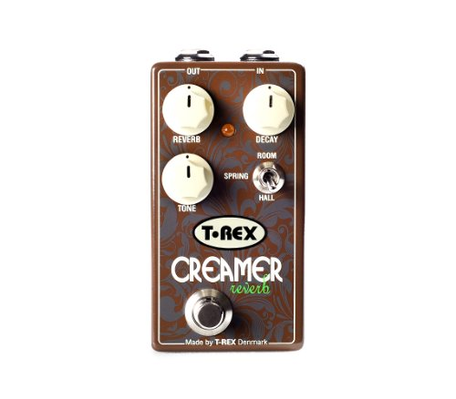 Reverb Control - T-Rex Engineering CREAMER Reverb Guitar Effects Pedal Provides Room, Spring, and Hall Reverb with Tone Control (10092)