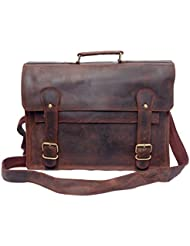 Feather Feel 17 Large Leather Briefcase Travel Satchel Laptop Macbook Messenger Bag Everyday Leather Bag