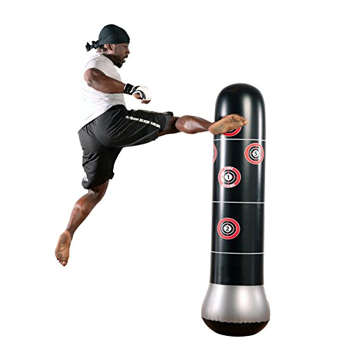 Fitness Punching Bag Heavy Punching Bag Inflatable Punching Tower Bag Freestanding Children Fitness Play Adults De-stress Boxing Target Bag