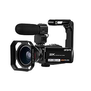 Flashandfocus.com 41vzBxKH87L._SS300_ 2K Camcorder Video Camera ORDRO Vlogging Camera for YouTube WiFi HD Video Camcorder IR Night Vision Digital Video Camera…
