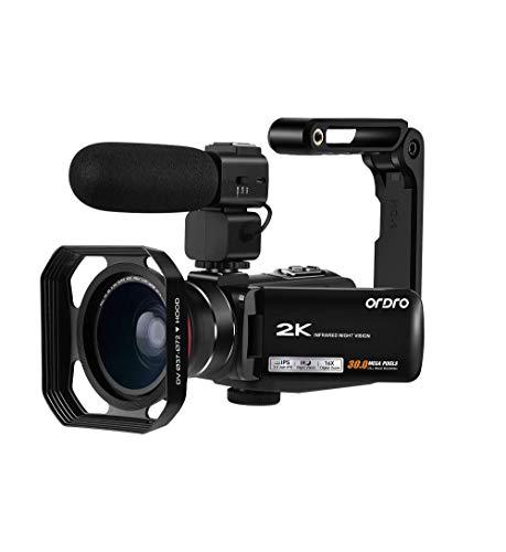 2K Camcorder Video Camera ORDRO Vlogging Camera for YouTube WiFi HD Video Camcorder IR Night Vision Digital Video Camera…