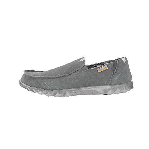 Hey Dude Herren-Sneaker Leder grau grau Grau/Grau