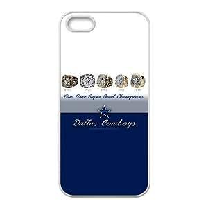 DALLAS COWBOYS-031 a la mejor funda funda iPhone 5 casos 5s teléfono celular de cubierta blanca