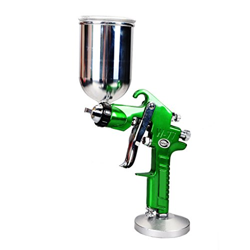 Valianto High Performance W77-G HVLP Gravity Feed Spray Gun Green Nozzle Size 1.5mm