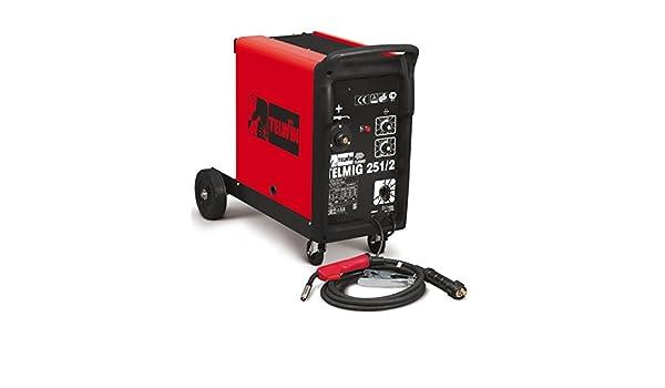Soldador hilo continuo telmig 251/2 turbo Telwin Mig/Mag Gas- Cod. 821070: Amazon.es: Bricolaje y herramientas