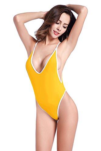 Yellow Thong Bikini Set in Australia - 4