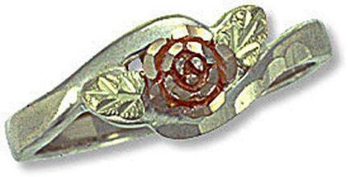 Landstroms Sterling Silver Ladies Ring and 10k Gold Rose - MRL02137