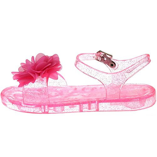Lelli Kelly LK9944 (AC98) Transparent Pink Fiore Sandals-22 (UK 5.5)