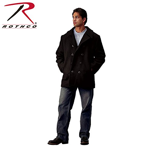 Rothco Pea Coat, Black, XX-Large/3X-Large