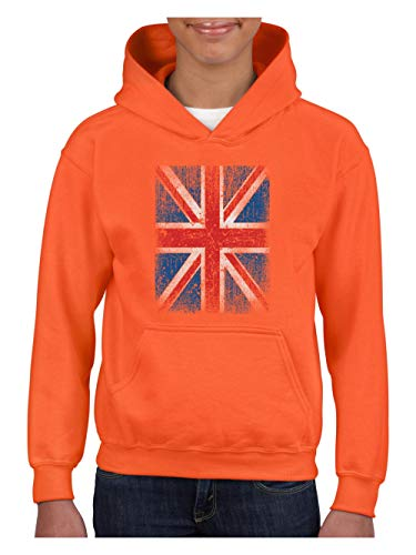 British Flag Union Jack Distressed Unisex Hoodie for Girls and Boys (LOR) ()