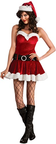 Secret Wishes Christmas Collection Ms. Santa In Training Costume, Red, Small ()