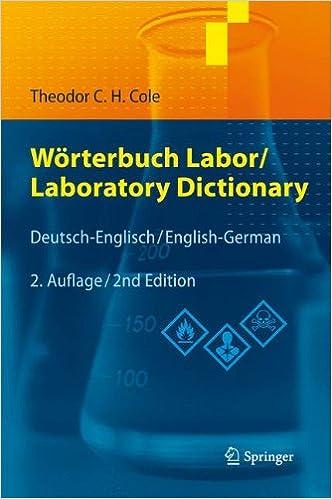Wörterbuch Labor/Laboratory Dictionary: Deutsch/Englisch - English ...