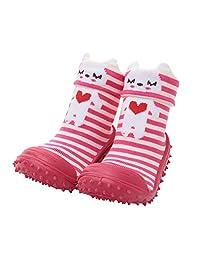 Cotton Cute Design Animal Image Baby Socks With Rubber Soles Floor Sock Non Slip