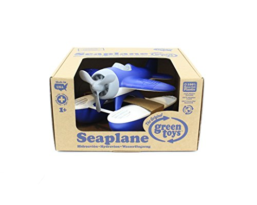 Green Toys Seaplane Bathtub Toy, Blue/White, 9.5'' X9'' X5.25'' by Green Toys (Image #1)