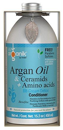 Vivorganik Acondicionador Detox con Aceite de Argán, Ceramidas y Aminoácidos, 450 ml
