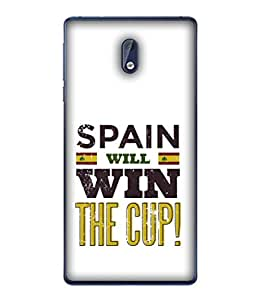 ColorKing Football Spain 04 White shell case cover for Nokia 3