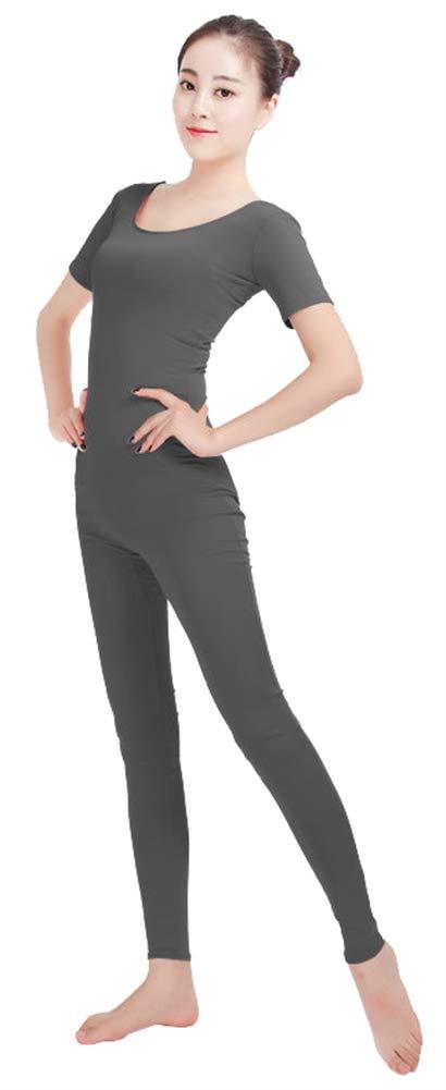 SK Studio Frauen Einteilige Unitard /Ärmellos Lycra Spandex Haut Feste elastische Ganzanzug Bodysuit Tanz Yoga Kost/üm