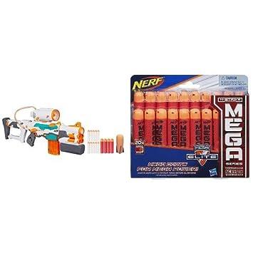 Nerf Modulus Tri-Strike and Nerf N-Strike Elite Mega Dart Refill Playset (