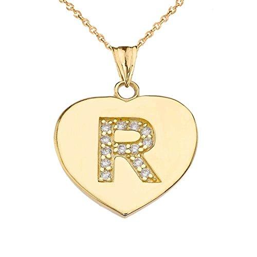 Elegant 14k Yellow Gold Diamond Initial