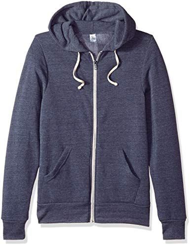 - Alternative Men's Rocky Zip Hoodie Sweatshirt, Eco True Navy, Medium