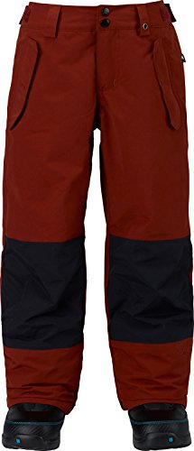 Burton Boys' Parkway Pants, Fired Brick/True Black, Medium ()