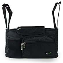Lavievert Functional Stroller Organizer Diaper Bag Back Seat Car Organizer with Bottle Holders for Traveling or Outings