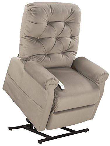 Three Position Recliner - Mega Motion Lift Chair Easy Comfort Recliner LC-200 3 Position Rising Electric Power Chaise Lounger - Fawn Tan Color Fabric