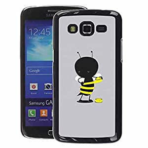 A-type Arte & diseño plástico duro Fundas Cover Cubre Hard Case Cover para Samsung Galaxy Grand 2 (Grey Cartoon Yellow Cute)