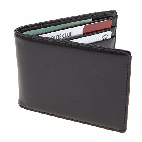 Men Wallets Money Clip Wallet Credit Card Wallet Card Holder Wallet Cow Leather Made Korea S1109 Black