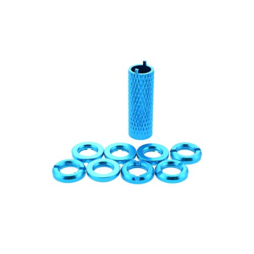 Hobbymarking STAR POWER Aluminum Radio Control Switch Nut for Futaba JR Remote Control Rocker (Blue) (Jr Rc Control)