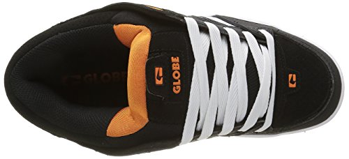 GlobeFusion - Zapatillas Hombre Negro - Schwarz (Black/White/Orange)