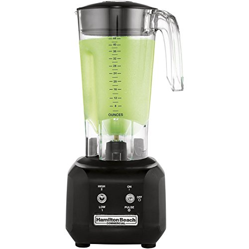 (Hamilton Beach Commercial HBB250R Rio Bar Blender, 3/4 Peak hp, 2 Speed with Pulse Motor, 44 oz. Polycarbonate Wave Action Container, Black)