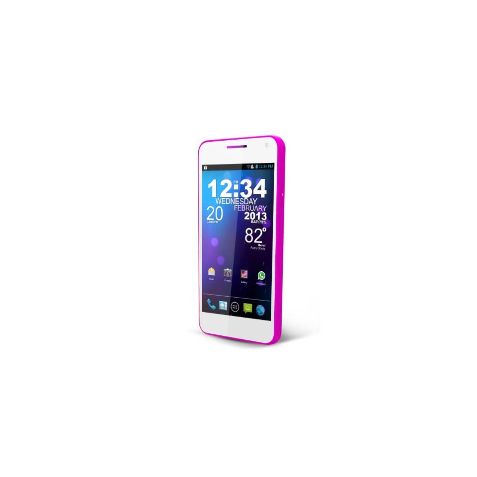 BLU Vivo 4.3 D910a Unlocked Phone with 4.3 Inch Super AMOLED Plus Display, Dual SIM 3G 850/1900, Dual Core 1GHz Processor, Android 4.1.1Jelly Bean, and 8 MP Camera   US Warranty Cell Phones & Accessories