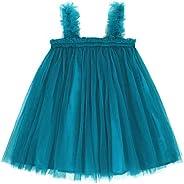 Kantenia Baby Girls Casual Tutu Dress Toddler Infant Sleeveless Layered Princess Tulle Dress Summer Beach Dres