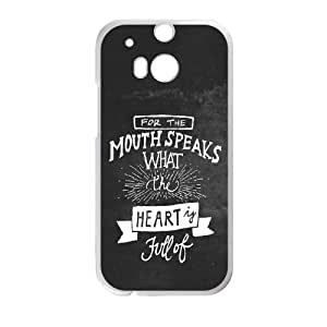 HTC One M8 Cell Phone Case White Mouth Speaks Hkzbp