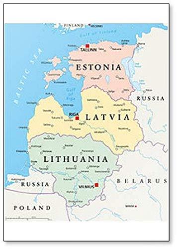 Amazon.com: Baltic States Political Map Classic Fridge ...