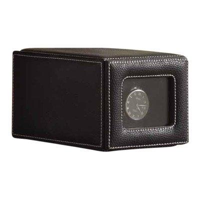 Nathan Direct Jones Upholstered Single Watch Winder with 4 Program Settings, Black